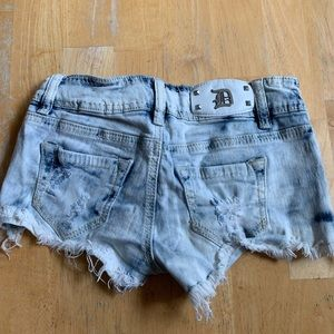 Dollhouse Bleached and Destroyed Cutoff Jean Short